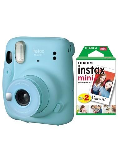 Fujifilm instax mini 11 Mavi Fotoğraf Makinesi 20li Film Mavi